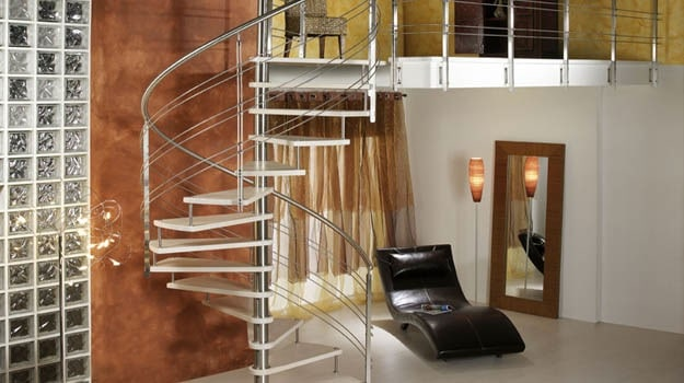 Un escalier colimaçon
