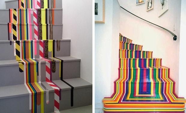 Escalier peint coloré