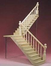 Escalier de meunier avec un palier