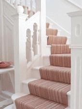 Chemin d'escalier en étoffe