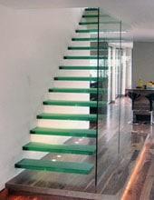 Balustrade d'escalier en verre