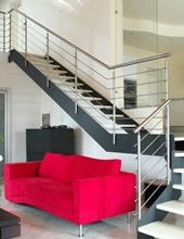 Rampe d'escalier metallique