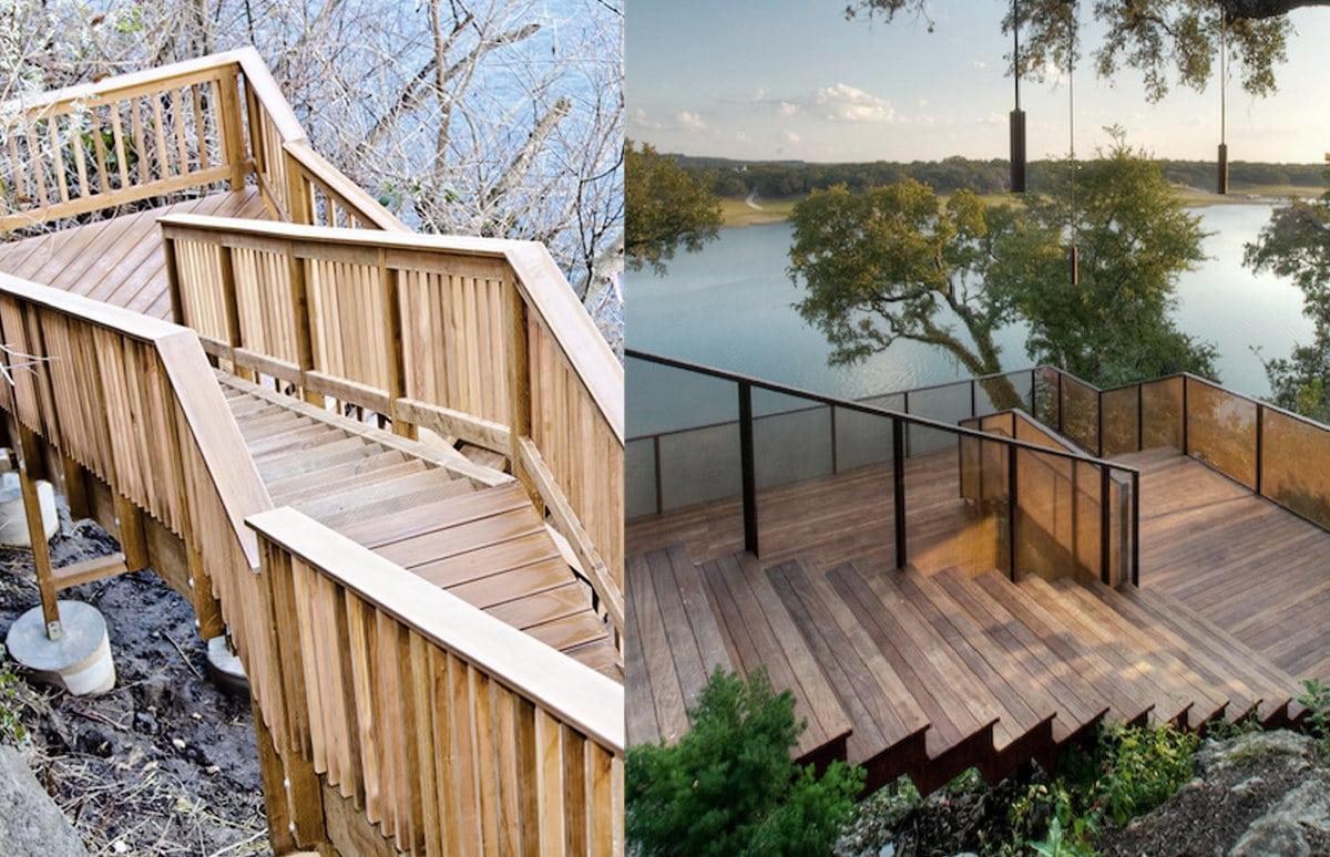Escaliers extérieurs bois