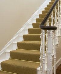 escalier tapissé