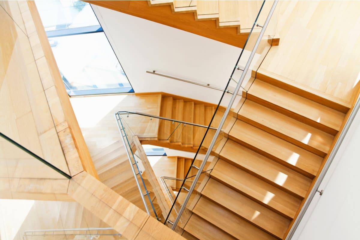 escalier en hetre