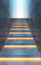 habillage escalier enduit beton